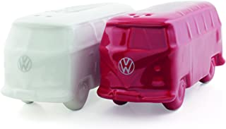 BRISA VW Collection VW T1 Bus 3D Salt & Pepper Shakers - White/Red