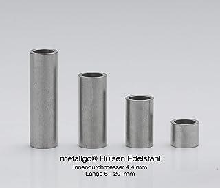Miki/&Co 20 mm di/ámetro Pinza Abrazadera de sujeci/ón en Pared de Tubo de aleaci/ón de Aluminio 5pcs