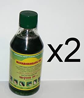 Mahabhringraj Oil 2 bottles of 200 ml ea, Scalp Massaging Oil Ramakrishna Pharma Brand - Ayurvedic Medicine