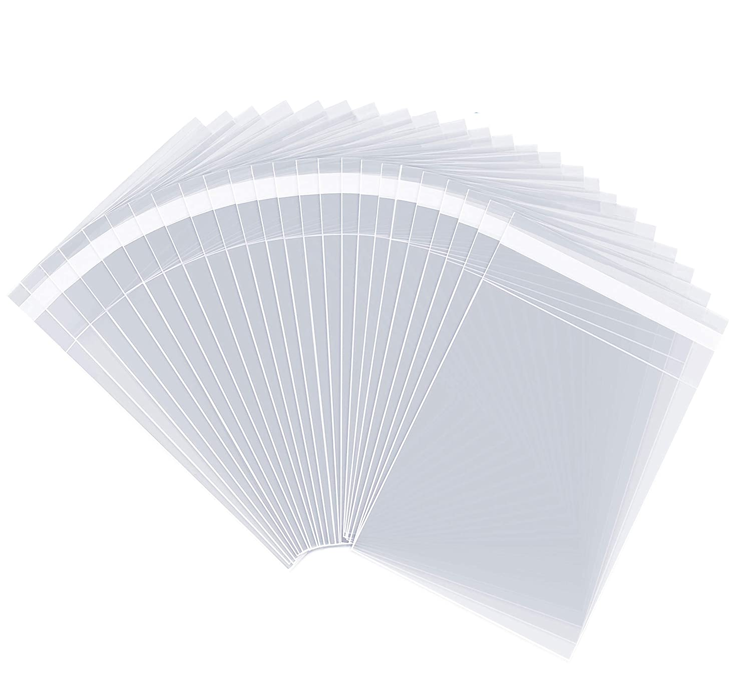 "5"" X 7"" (1000 Pack) Clear Resealable Cellophane Cello Bags Self Seal - Fits 5X7 Print Photos A2 A4 A6 Cards Envelopes & Baked Goods - Pack It Chic (More Sizes Available)"