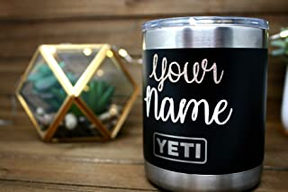 11aa2c65cca Personalized YETI RAMBLER 10 OZ LOWBALL, Stainless Steel Yeti Coffee Mug  With Lid, Custom