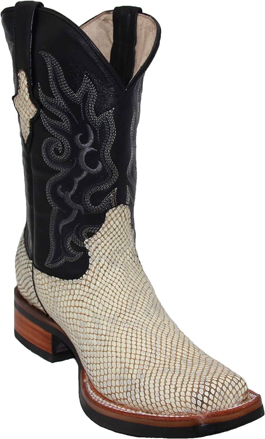Mens Genuine Leather Snake Print Design Snakeskin Cow low-pricing High material Toe Square