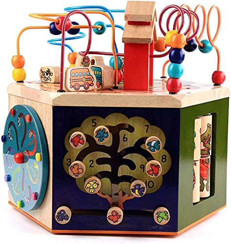 Denkspiel Musik Multiple Gameplay Schatzkiste Holz Größe Runde Perlen Hexahedron Junge mädchen