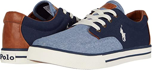 Blue Chambray/Navy Canvas/Tan Burnished/Off-White Polo Print