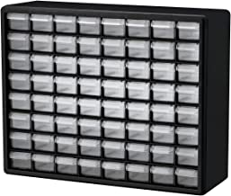 Akro-Mils 10164 64 Drawer Plastic Parts Storage Hardware and Craft Cabinet, 20-Inch by 16-Inch by 6-1/2-Inch, Black