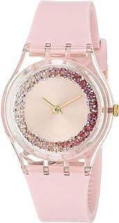 Essentials Quartz Silicone Strap, Pink, 16 Casual Watch (Model: GP164)