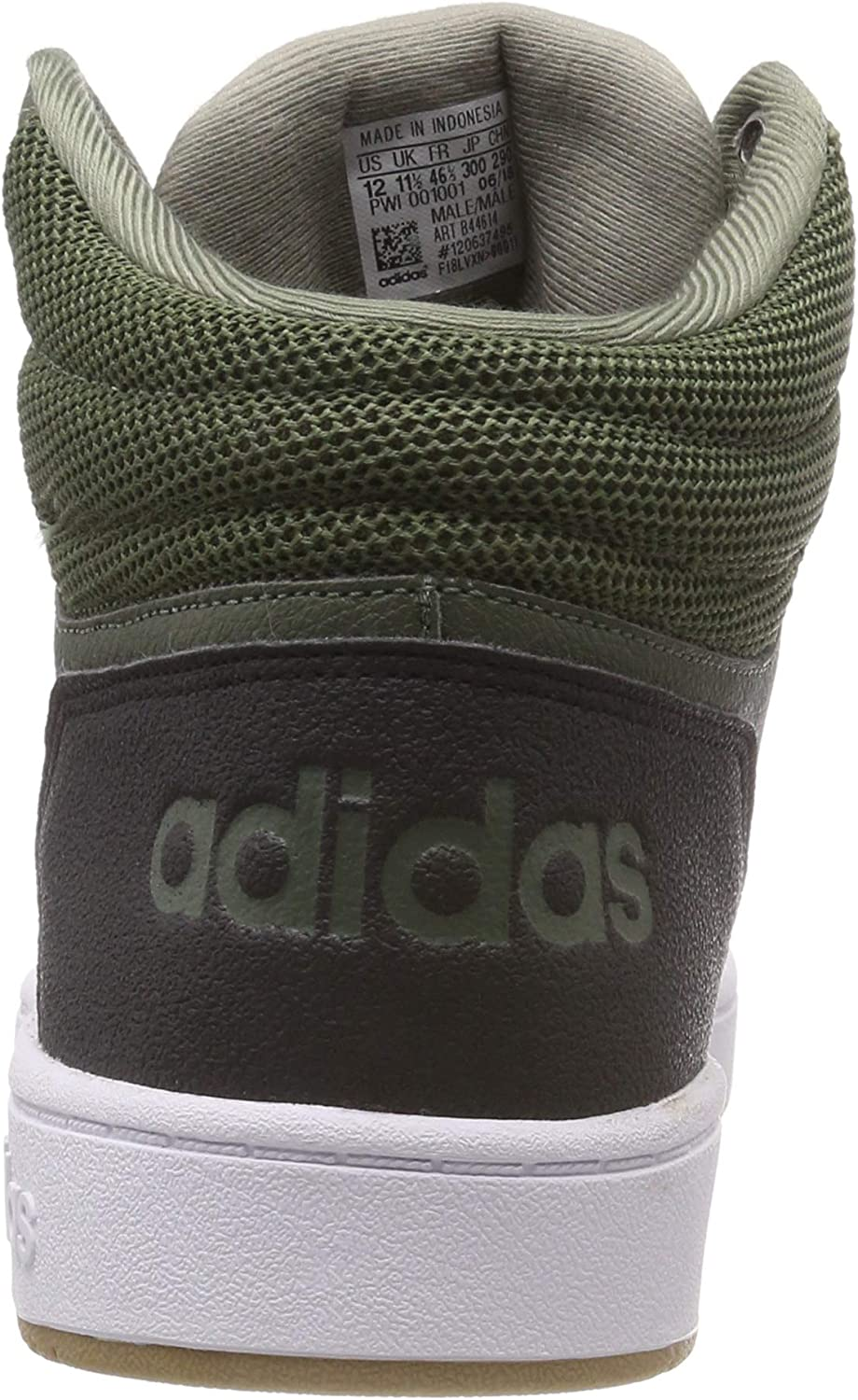 adidas Men's Hoops 2.0 Mid Fitness Shoes Green Base Green Trace Cargo Hi Res Orange S18 QQfDuw