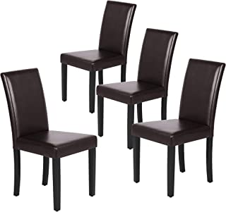 Yaheetech Dining Chairs Side PU Cushion Chairs with...