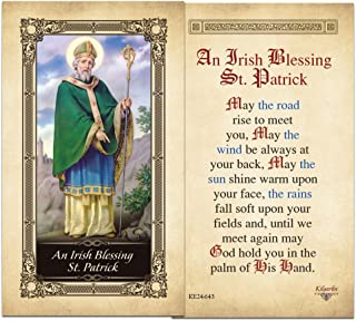 An Irish Blessing St. Patrick Laminated Holy Card - Pack of 25