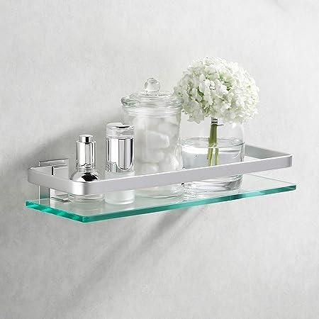 Amazon Brand - Umi Estanteria Baño Aluminio Estante de Vidrio ...