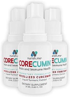 CoreCumin - Turmeric Curcumin Supplements – 6 Month Supply - Liquid Turmeric Extract Anti-Inflammatory Supplement – Nano-Sized Curcumin for Enhanced Absorption (3 Pack)