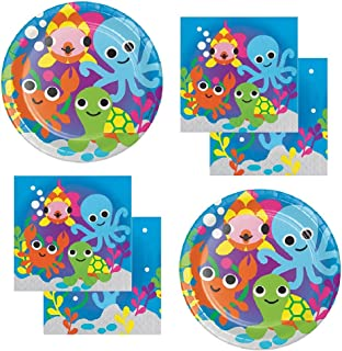 Ocean Theme Party Supplies For Baby Shower or Birthday Serves 20 Guests: Large Plates & Napkins
