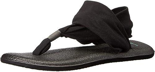 Sanuk Woherren Yoga Sling 2 (36-37 M EU 6 B(M) US, schwarz)