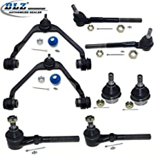 DLZ 8 Pcs Front Suspension Kit-Upper Control Arm Assembly Lower Ball Joint Inner Outer Tie Rod End Compatible with 1997-2003 Ford F150 2WD 1997 Ford F-250 4.6L 5.4L 2WD 1997-2002 Ford Expedition 2WD