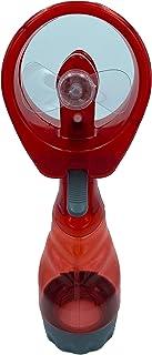 YBest Ventilador Mano con Agua Pulverizador Agua Manual (Rojo)