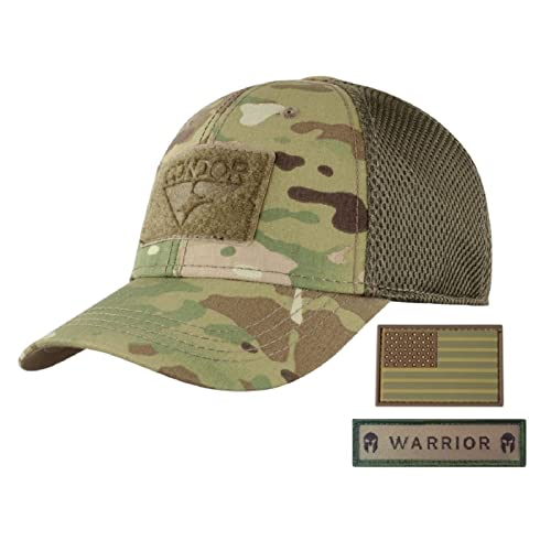 Active Duty Gear Condor Flex Mesh Cap (Multicam) + PVC Flag   Warrior Patch 1bc4e6da2fa