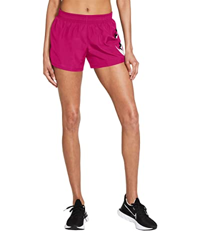 Nike Swoosh Run Shorts (Fireberry/Black) Women