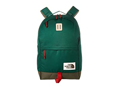 The North Face Daypack (Night Green/New Taupe Green) Backpack Bags
