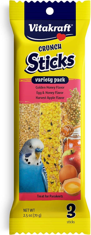 Vitakraft Parakeet Treat Sticks Variety Honey Apple shop Wholesale Egg Pack -