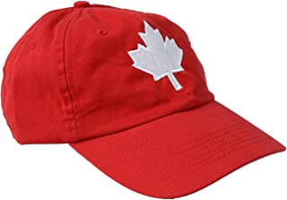 Canada Maple Leaf Hat | Canadian Pride Embroidered Adult Twill Red Baseball Cap