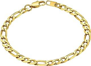 دستبند دستبند زنجیره ای فیگارو ، مشبک زنجیره ای فیگارو ، 6MM-13MM ، 7.5 '' / 8.3 '، ارسال رایگان جعبه هدیه