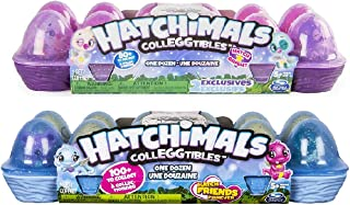 Hatchimals CollEGGtibles Season 3, 12 Pack Egg Carton & Hatchimals CollEGGtibles Season 4 12Pack Egg Carton (Styles and Colors May Vary) Including Blizy Maze Pen.