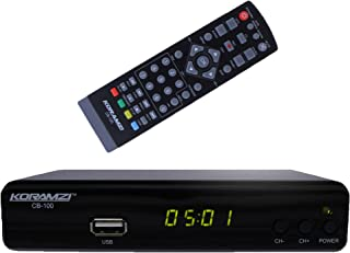 KORAMZI CB-100 HDTV Digital TV Converter Box ATSC with USB DVR Recording and Media Player PVR Function / HDMI Out / RF in ...