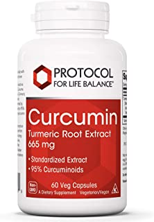 Protocol For Life Balance - Curcumin - Turmeric Root Extract 665 mg - Reduces Joint Inflammation and Helps Maintain Normal...