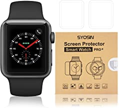 SYOSIN Compatible Apple Watch 42mm Screen Protector 2.5D Curved Edge HD Anti-Scratch Anti-Bubble Easy Install Tempered Gla...