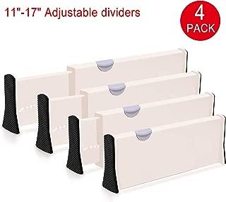 JGSY Drawer Dividers 4 Pack Adjustble Drawer Organizer - 4