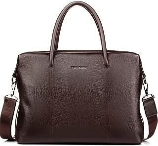 Leather Men's Handbag, Large-Capacity Travel Bag Leather Business Bag Briefcase Shoulder Bag Computer Bag