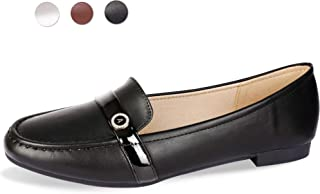 CINAK Flats Shoes for Women- Comfortable Loafers Casual Walking Slip On Round Toe Ladies Shoes