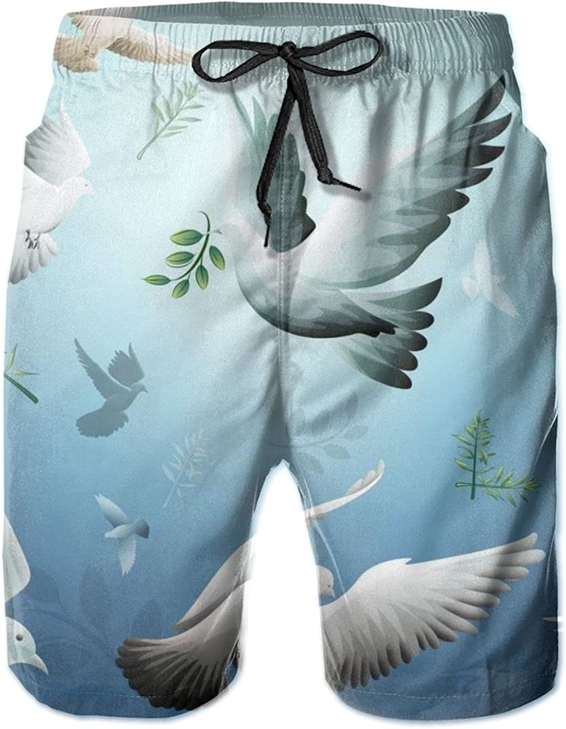 Mens Dove of Peace Quick Dry Fit Surf Classic Cheap Short Free shipping / New Trunks Swim