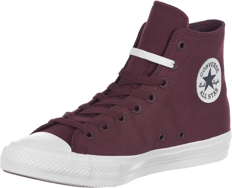 Converse Men's Ct Ii Hi Sneakers, Red (Deep Bordeaux/White/Navy)