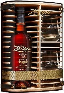 Zacapa Rum Solera Sistema 23 Centenario in Hochwertiger Holz - 1 x 0,7 l Geschenkbox mit 2 Gläsern
