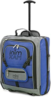 (Blue) - MiniMAX Childrens/Kids Cabin Luggage Carry On Trolley Suitcase with Backpack and Pouch for your Favourite Doll/Ac...