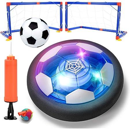 ZITFRI Balón Fútbol Flotante Recargable, Juguetes Futbol Balón Flotante con Luz LED, Pelota Aire Suelo Niño Pelota Flotante Futbol Air Ball, Juguetes Niños 3 5 6 8 9 12 años, Regalos para Niños