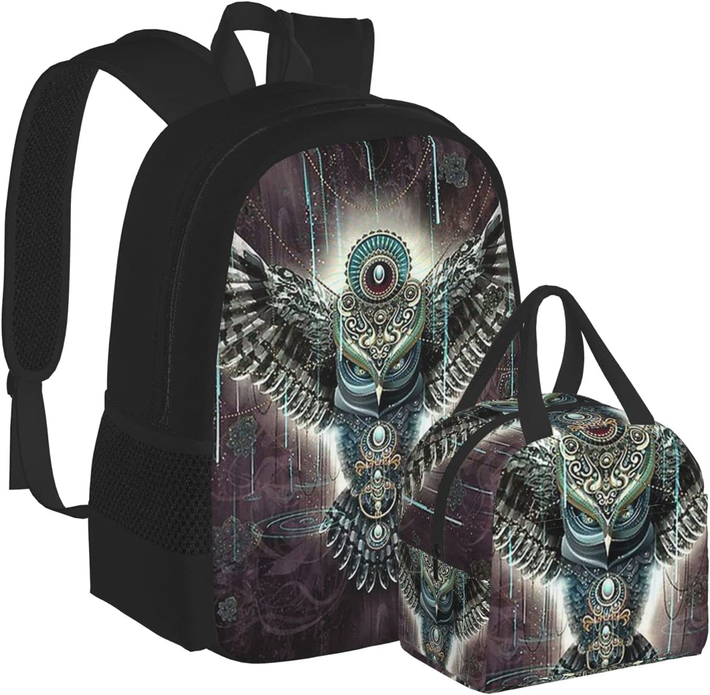 Visionary Inspiration Vintage Owl Max 74% OFF Eagle Spring new work Ba Schoolbag