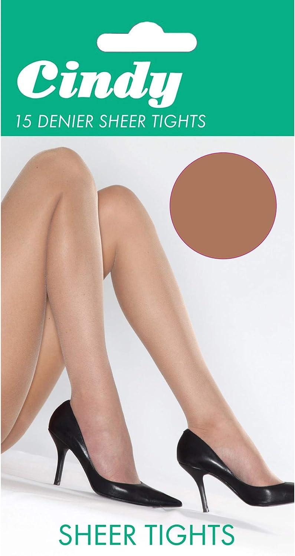 Cindy Womens/Ladies 15 Denier Glossy Tights (1 Pair)