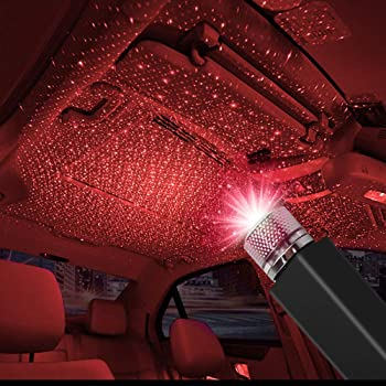 CarEmpire Auto Roof Star Projector Lights, USB Portable Adjustable Flexible Interior Car Night Lamp Decorations with Romantic Galaxy Atmosphere fit Car, Ceiling, Bedroom, Party and More