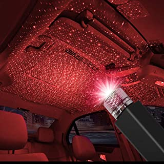 CarEmpire Auto Roof Star Projector Lights, USB Portable Adjustable Flexible Interior Car Night Lamp Decorations with Roman...