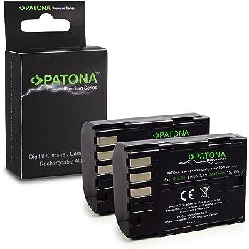 Batteria Patona caricabatteria casa//auto per Pentax K5 IIS DSLR,K-7 SLR