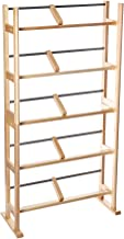 Atlantic Element Media Storage Rack - Holds Up to 230 Cds or 150 Dvds, Contemporary Wood & Metal Design with Wide Feet for...