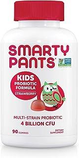 SmartyPants Kids Probiotic Formula Daily Gummy Vitamins, 4 Bil CFU, Strawberry, 90 Count, (90 Day Supply)