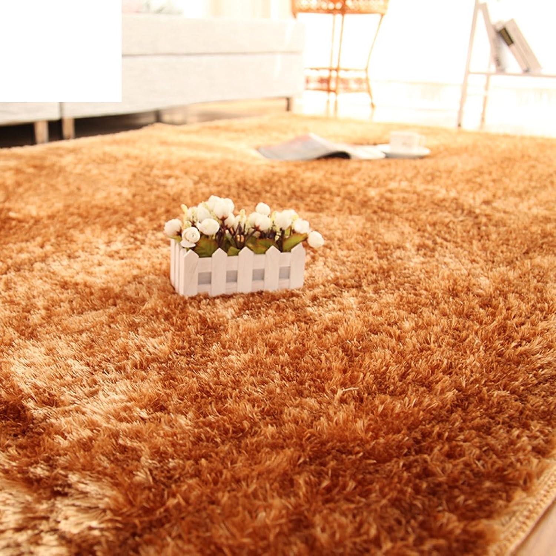Silk Wool mats Bedroom Living Room Floor mats Doormat Bedroom Blanket for Bedroom -A 140x200cm(55x79inch)