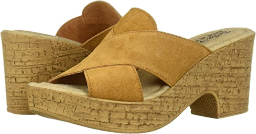 Tobacco Italian Suede Leather