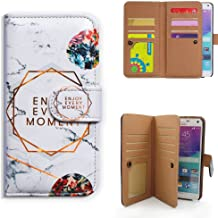 Galaxy Note 5 Case,Bcov Enjoy Every Moment Wallet Leather Case for Samsung Galaxy Note 5