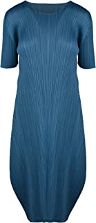PLEATS PLEASE ISSEY MIYAKE Luxury Fashion Womens PP06JH16674 Blue Dress | Spring Summer 20