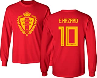 Tcamp Belgium 2018 National Soccer #10 Eden Hazard World Championship Men's Long Sleeve T-Shirt
