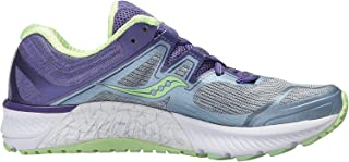 Saucony Women's Guide ISO Running Shoes Fog/Purple/Mint